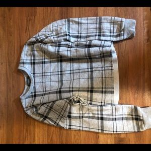 Plaid cropped sweatshirt!